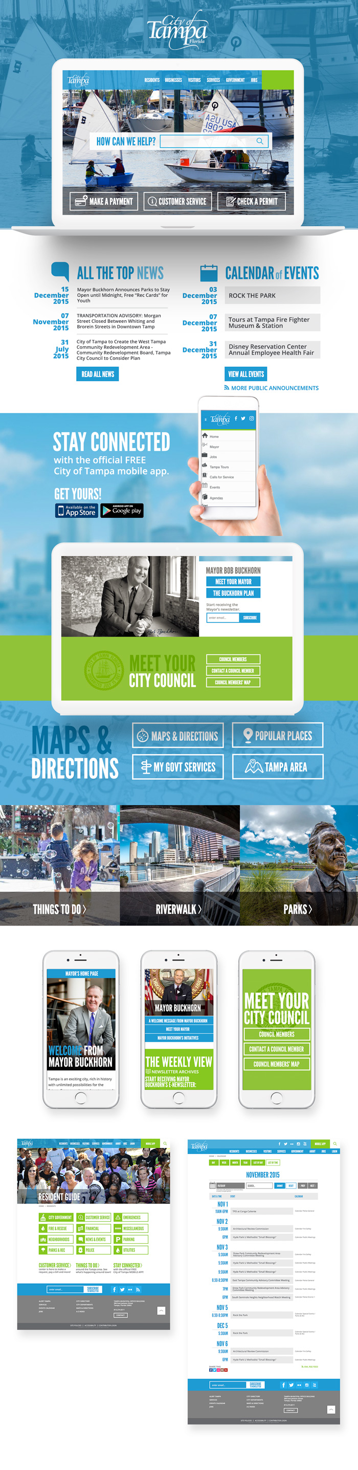City of Tampa website homepage