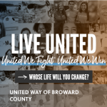 United Way of Broward County Screenshot of Home Page