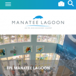 Screenshot of overhwad shot of people talking in Manatee Lagoon lobby.