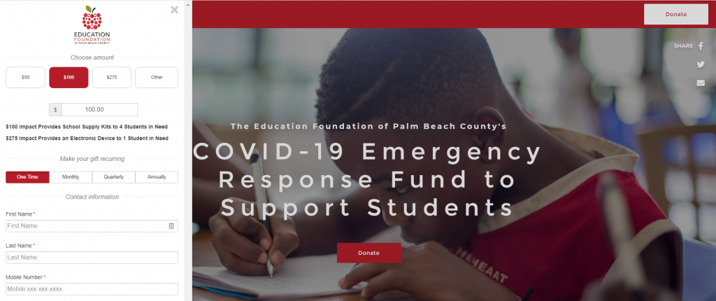 Education Foundation of Palm Beach County COVID-19